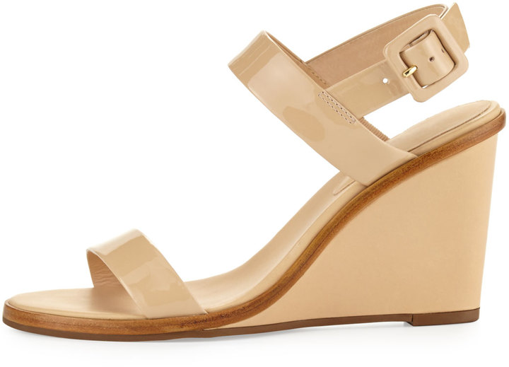 Kate Spade Nice Strappy Patent Wedge