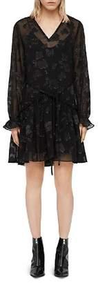 AllSaints Alia Floral Drawstring Dress