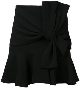Cinq à Sept front knot short skirt
