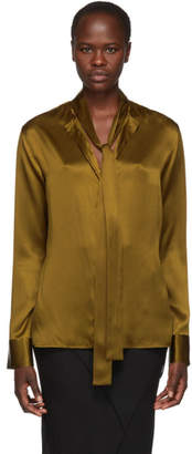Haider Ackermann Khaki Silk Dali Shirt