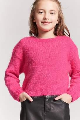 Forever 21 Girls Fuzzy Knit Sweater (Kids)