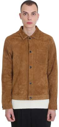 Ami Alexandre Mattiussi Leather Jacket In Leather Color Suede