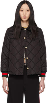 Gucci Black Ruffled Pearl Jacket