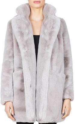 Blanc Noir Apparis Sophie Faux Fur Coat