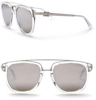 GUESS Women's Modified Aviator 54mm Sunglasses