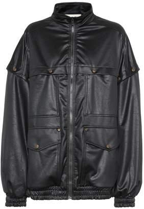 Gucci Satin-jersey track jacket