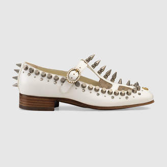 Gucci Ballet pump with spikes and studs