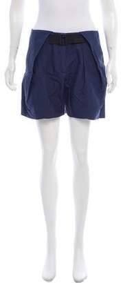 Balenciaga Mid-Rise Silk Shorts