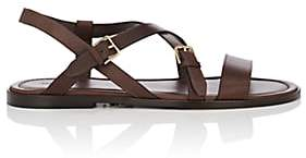 Paul Andrew MEN'S MATHSSON LEATHER SANDALS-DK. BROWN SIZE 12 M
