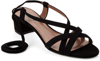 Tabitha Simmons Belen Suede Ankle-Wrap Sandals