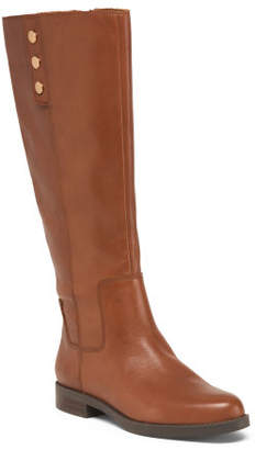 High Shaft Riding Leather Boots