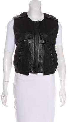 Alexander Wang Leather Cropped Vest