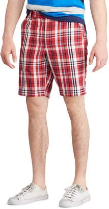 Chaps Men's Straight-Fit Stretch Poplin Flat-Front Shorts