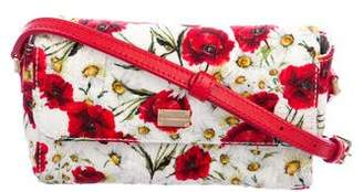 Dolce & Gabbana Poppy Floral Print Brocade Bag