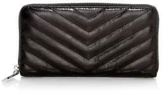 Rebecca Minkoff Edie Quilted Metallic Pebbled Leather Continental Wallet