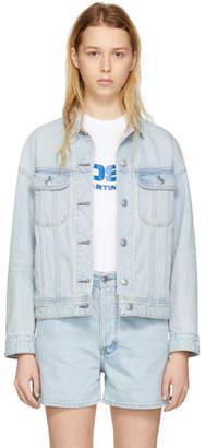 Acne Studios Bla Konst Blue Denim Lamp Jacket