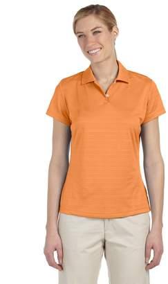 adidas Ladies climalite Textured Short-Sleeve Polo, 2XL
