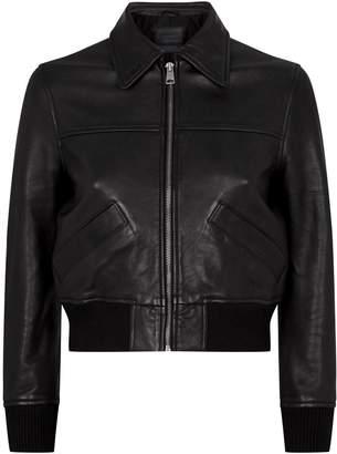 AllSaints Pascao Leather Bomber Jacket
