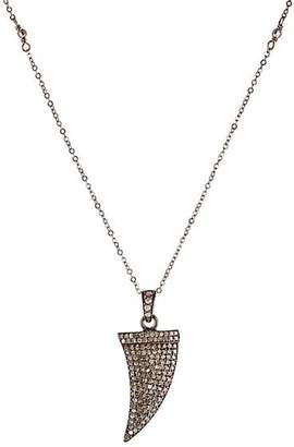 Feathered Soul Women's Diamond & Oxidized Silver Claw Pendant Necklace