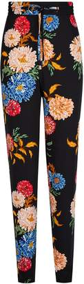 Dorothy Perkins Womens **Tall Black Floral Print Joggers