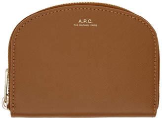 A.P.C. Tan Half-Moon Compact Wallet