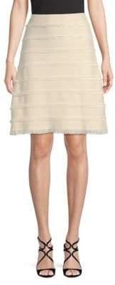 Burberry Fringe Silk A-Line Skirt