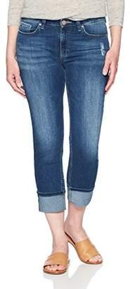 Lee Indigo Women's Modern Collection Roll Cuff Straight Leg Denim Cropped Jean