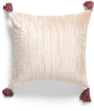 Nordstrom Tassel Crushed Velvet Accent Pillow