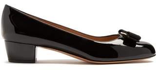 Salvatore Ferragamo - Vara Patent Leather Pumps - Womens - Black