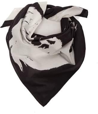 Calvin Klein Stephen Sprouse Print Cotton Bandana Scarf - Womens - White