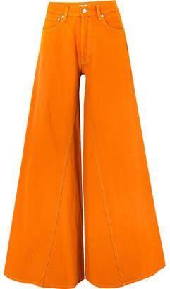 Ganni Paneled Jeans - Orange