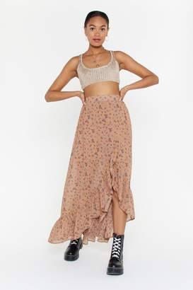 afc53591c5 Nasty Gal On a Flower Trip Floral Maxi Skirt