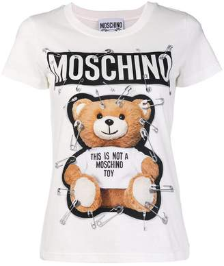 Moschino safety pin bear T-shirt
