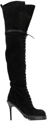 Ann Demeulemeester lace-up knee boots