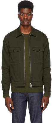 Paul Smith Khaki Canvas Short Jacket