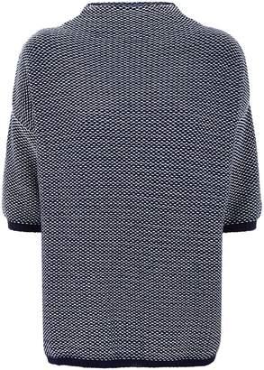 Max Mara High Neck Textured Sweater