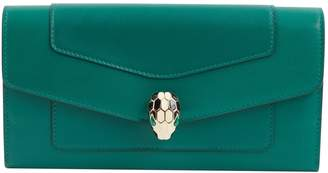 Bulgari Serpenti leather clutch bag