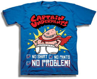 Novelty T-Shirts Short Sleeve Captain Underpants T-Shirt-Preschool Boys