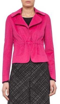 Akris punto Drawstring-Waist Open Jacket, Pink $1,490 thestylecure.com