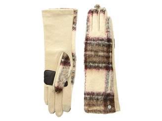 Echo Brushed Plaid Gloves