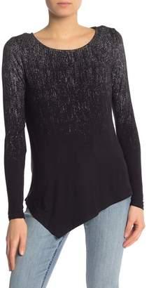 Seven7 Long Sleeve Asymmetrical Hem Shirt