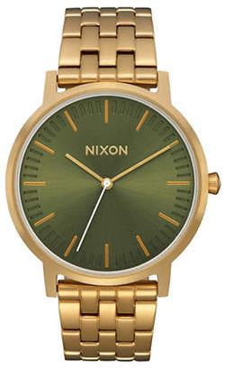 Nixon Porter Goldtone Stainless Steel Link Bracelet Watch
