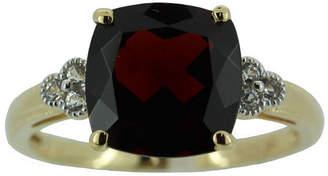 JCPenney FINE JEWELRY Genuine Garnet w/ Lab-Created Sapphire Ring