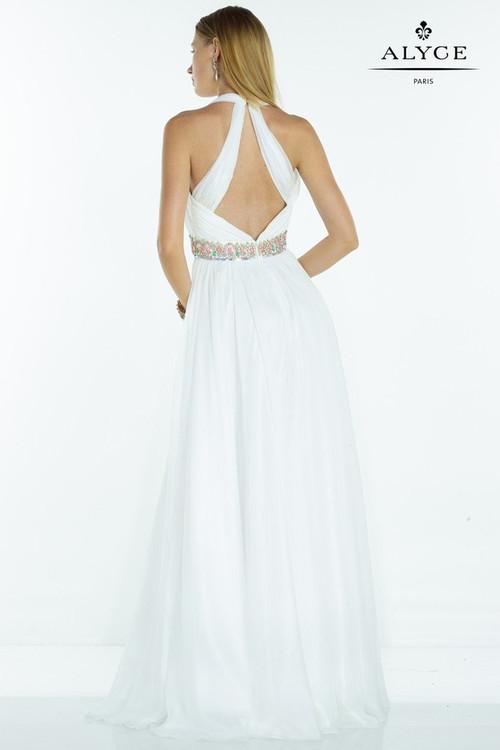 Alyce Paris - 1074 Dress in White Multi-Color