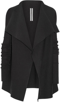 Rick Owens - Draped Cotton Cardigan - Black $1,160 thestylecure.com