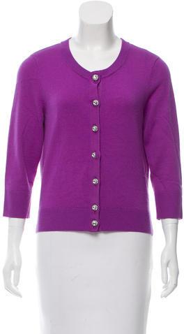 Kate SpadeKate Spade New York Wool & Cashmere Blend Embellished Cardigan