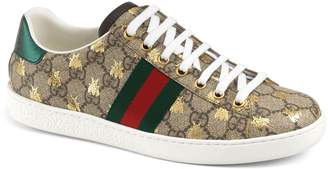 Gucci New Ace Monogram Bee Sneaker