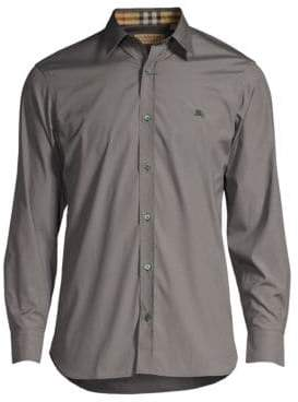 Burberry William Check-Accent Cotton Sport Shirt