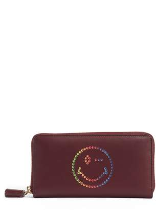 Anya Hindmarch Rainbow Smiley Leather Wallet