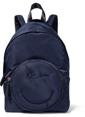 Anya Hindmarch Chubby Wink Shell Backpack - Midnight blue
